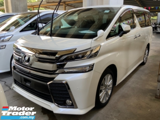 2018 TOYOTA VELLFIRE 2.5 Z High spec Nice Condition Free Gift 3 years Warranty Many units Unregistered