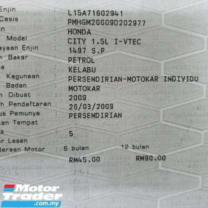 2009 HONDA CITY 1.5(A) E Spec *1 Owner* Trusted Dealer