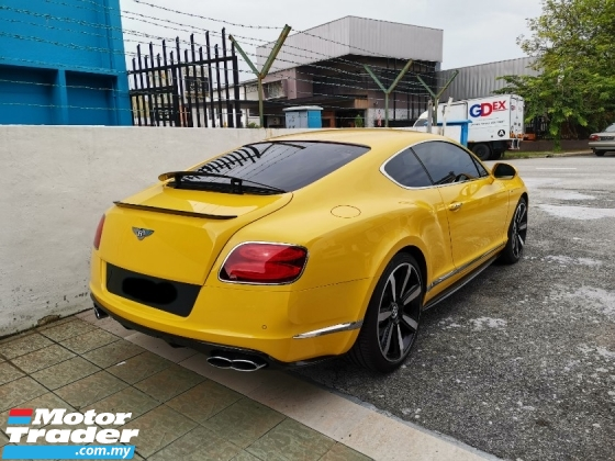 2014 BENTLEY CONTINENTAL V8s With Original Yellow Colour* 100%-Genuine Mileage* Excellent Condition* 100%-Accident Free