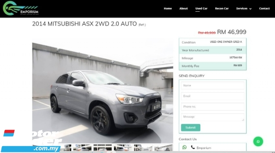 2014 MITSUBISHI ASX 2.0L WITH ENKEI PERFORMANCE RIM & REAR MONITOR