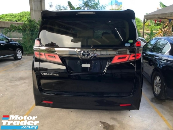 2018 TOYOTA VELLFIRE 2.5 X 8 Seater New Facelift 360Cam Power Boot Pre Crash Lane Keeping Assist 3 Years Warranty Unreg