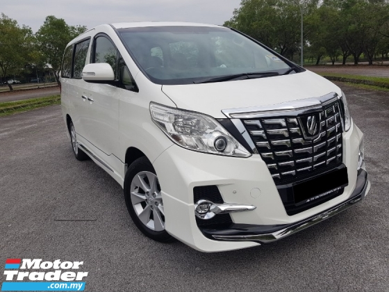2014 TOYOTA ALPHARD 3.5 (A) 350G L PACKAGE /POWER BOOT/DOOR/ SUNROOF