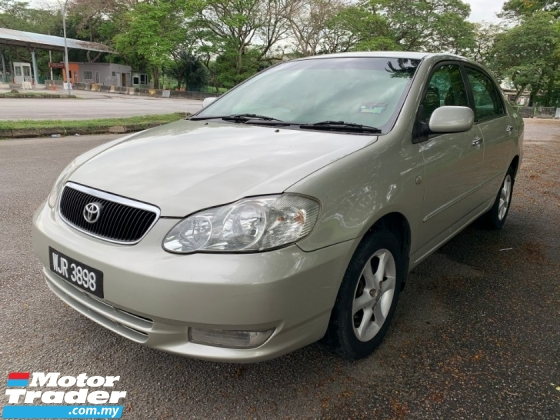 2002 TOYOTA COROLLA ALTIS 1.8 G (A) 1 Lady Owner till Now Only TipTop