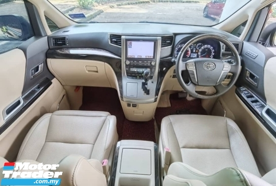 2013 TOYOTA ALPHARD 3.5 FACELIFT SC SUNROOF MOONROOF PILOT SEAT HOME THEATER FULL LEATHER SEAT