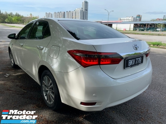 2015 TOYOTA COROLLA ALTIS 1.8 G (A) D-VVTi 1 Owner Only TipTop Condition
