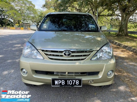 2007 TOYOTA AVANZA 1.3 (M) 1 Owner Only Till Now TipTop Condition