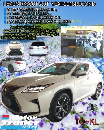 2018 LEXUS RX RX300T 2.0T YEAR2018RECOND OTR PRICE full include