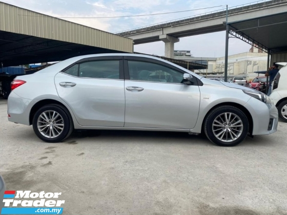 2015 TOYOTA COROLLA ALTIS 1.8 G 1 OWNER TIP TOP CONDITION MUST VIEW WITH DES