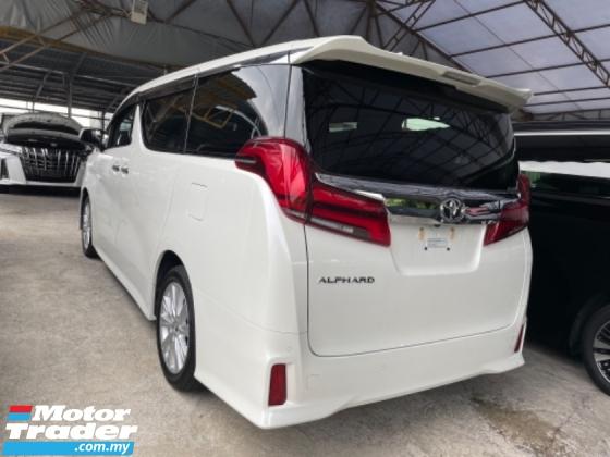 2018 TOYOTA ALPHARD Unreg Toyota Alphard S 2.5 7Seather 360View Cam Power Boot Sun Roof Led Light Push Start Engine 7G