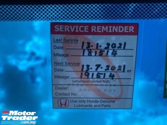 2016 HONDA ACCORD 2.0 VTi-L FACELIFT (A) FULL SERVICE RECORD