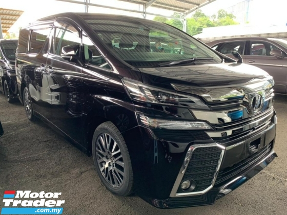 2016 TOYOTA VELLFIRE 2.5 ZG Unregister Pilot Seat 360 Camera Local AP