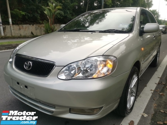 2003 TOYOTA COROLLA ALTIS Toyota COROLLA 1.8 ALTIS G FACELIFT (A) 1 OWNER