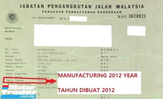 2012 PROTON INSPIRA 1.8 CVT EXECUTIVE CORVENT LANCER EV0 10