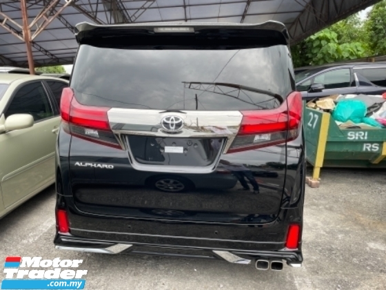 2017 TOYOTA ALPHARD Unreg Toyota Alphard SA Type Black Gold 2.5 7Seather 360View Power Boot Bodykit Sun Roof Led Light