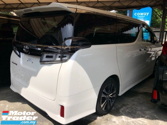 2018 TOYOTA VELLFIRE 2.5 ZG Original New Facelift 3 LED Full Leather Pilot Memory Seat Sun Moon Roof PCS LTA Unreg