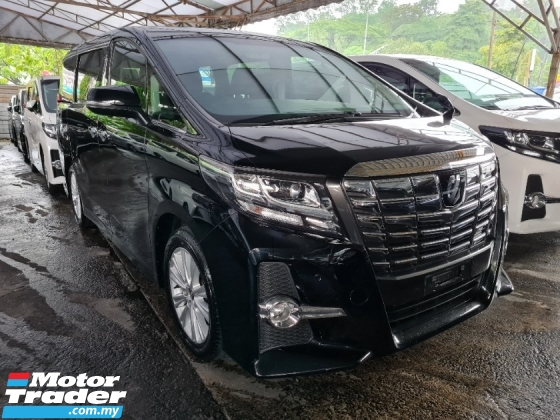 2017 TOYOTA ALPHARD 2.5 S SUNROOF 360 CAMERAS POWER BOOT INC SST 3 YEARS WARRANTY UNREG