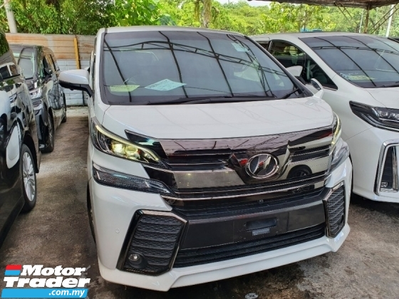 2017 TOYOTA VELLFIRE UNREG 2.5 GOLDEN EYES*3 years GMR warranty*Curtain
