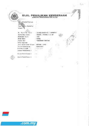 2019 PROTON PERSONA 1.6 CVT
