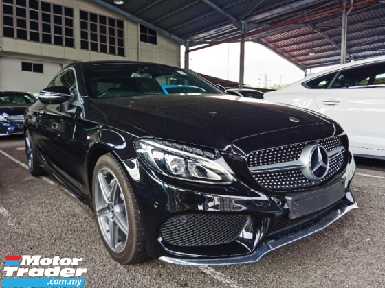 2018 MERCEDES-BENZ C-CLASS C200 COUPE AMG LINE 4 CAMERA PANORAMIC ROOF 2018 UNREG FREE GMR WARRANTY
