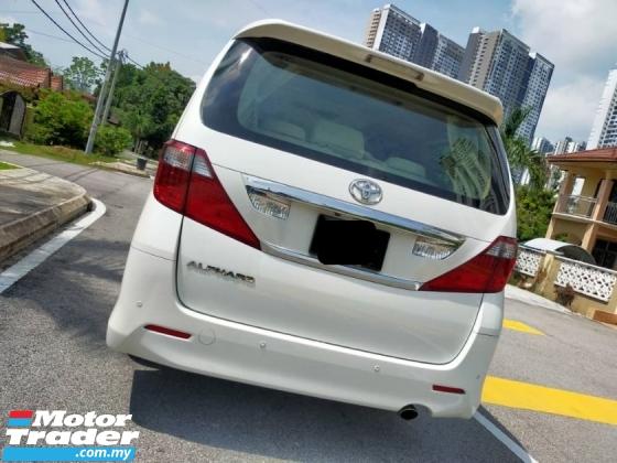 2010 TOYOTA ALPHARD 2.4 FACELIFT(A) 7Seater 2Power Door 0ne Malay Owne