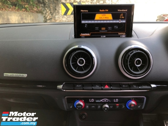 2016 AUDI RS3 2.5 TFSI S LINE QUATTRO 5 CYLINDER KING RECARO B&O