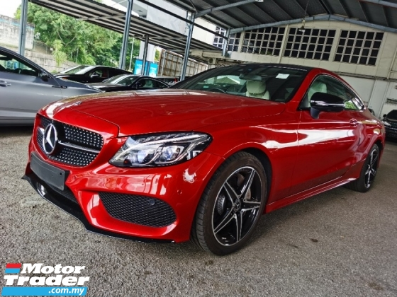 2020 MERCEDES-BENZ C-CLASS C300 AMG COUPE BLACK KNIGHT EDITION BURMESTER PANORAMIC ROOF MEMORY SEAT 360 4 CAMERA 2017 UNREG
