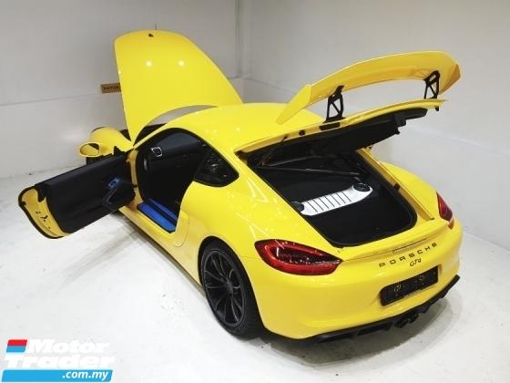 2016 PORSCHE CAYMAN GT4 3.8 (M) CLUB SPORT PRE REG NEW CAR