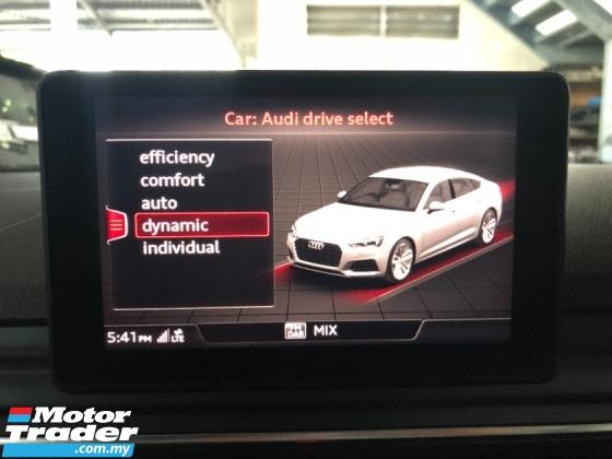 2018 AUDI A5 S-Line Sport Back 2.0 Turbo S-Tronic Matrix LED Headlamp Automatic Power Boot Paddle Shift Unreg