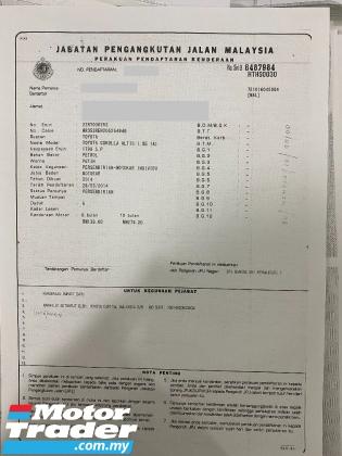 2014 TOYOTA COROLLA ALTIS 1.8 E SPORTY