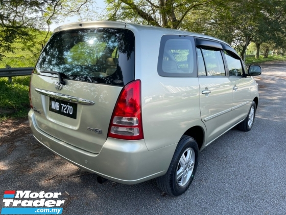 2006 TOYOTA INNOVA 2.0 G (A) 1 Lady Owner Only TipTop Condition