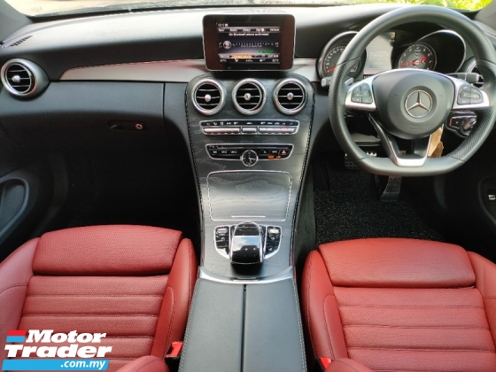 2017 MERCEDES-BENZ C-CLASS C200 AMG Coupe UK Spec Red Leather Unregister