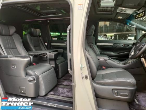 2019 TOYOTA ALPHARD 3.5 EL Z Executive Lounge Full Spec Sun Roof JBL Home Theatre 4Cam Leather Unregister