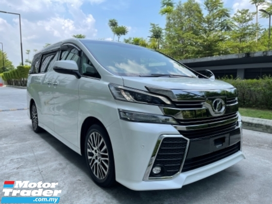 2016 TOYOTA VELLFIRE 2.5 ZG *D/Payment Rm5000* 5 Yrs Warranty* Call Now
