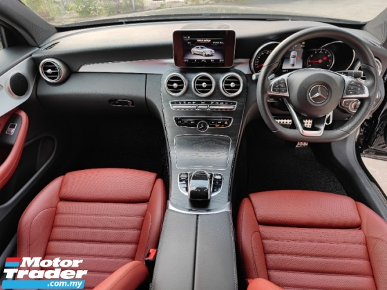 2016 MERCEDES-BENZ C-CLASS C200 AMG Coupe - Red Leather Seats - UK UNREG