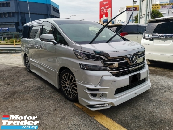 2015 TOYOTA VELLFIRE ZG TRD Full Package* 100%-Genuine Mileage* Grade 5-A* Whole Car Coating* Just Buy And Use* ALPAHRD