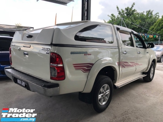 2012 TOYOTA HILUX 2.5 G (A) FACELIFT VNT CANOPY NO PROCESSING FEE