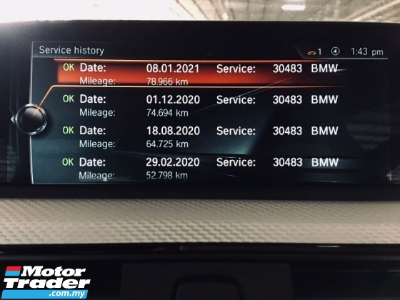 2017 BMW 3 SERIES 330E MSPORT 1LADY OWNER PERFECT COND