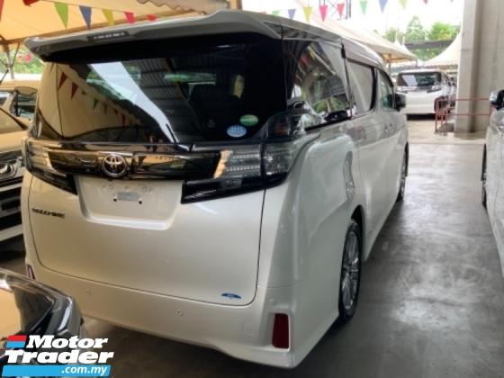 2016 TOYOTA VELLFIRE 2.5 Golden Eye 7 seaters 2 power door power boot Unregistered