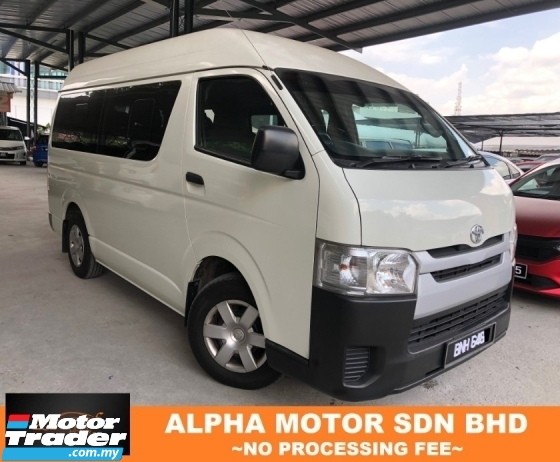 2015 TOYOTA HIACE 2.5 (M) DIESEL HIGH ROOF NO PROCESSING FEE
