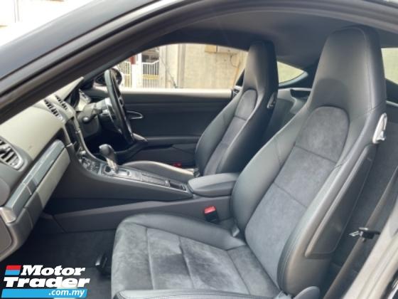2018 PORSCHE 718 Unreg Porsche Cayman 718 Facelift Black Interior Colour Paddle Shift PDK 7Speed
